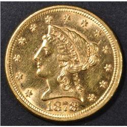 1878 $2.5 GOLD LIBERTY BU