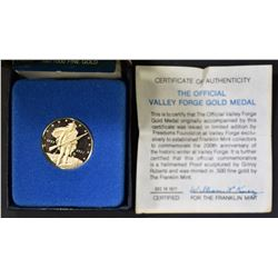 1977 THE OFFICIAL VALLEY FORGE GOLD MEDAL
