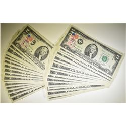 39 STAMPED 1976 $2.00 FEDERAL RESERVE NOTES: