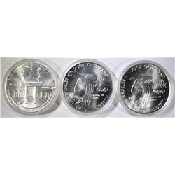 2-1983 & 1-1984 UNC OLYMPIC SILVER DOLLARS