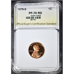 1979-S T-2 CENT, OBCS PERFECT GEM PR RED DCAM