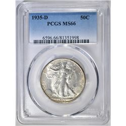 1935-D WALKING LIBERTY HALF PCGS MS-66