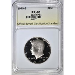 1979-S T-1 KENNEDY HALF, OBCS PERFECT GEM PR DCAM