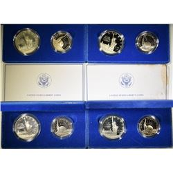 4-1986 STAUUE OF LIBERTY 2-COIN PROOF SETS