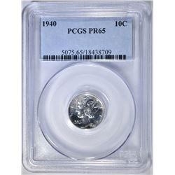 1940 MERCURY DIME PCGS PR-65
