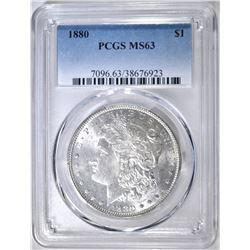 1880 MORGAN DOLLAR, PCGS MS-63