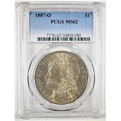 1887-O MORGAN DOLLAR, PCGS MS-62