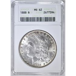 1888 MORGAN DOLLAR, ANACS MS-62