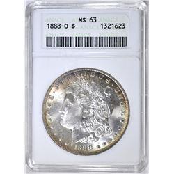 1888-O MORGAN DOLLAR, ANACS MS-63