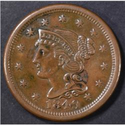 1849 LARGE CENT AU/BU