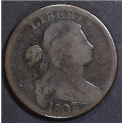 1807/6 LARGE CENT VG/FINE pitted reverse