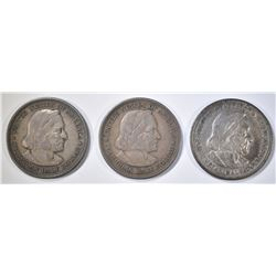 2 1893, & 1892 COLUMBIAN HALVES XF-AU
