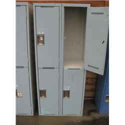 BANK OF LOCKERS WITH 4 DOORS