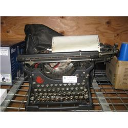 UNDERWOOD TYPEWRITER WITH COVER