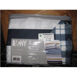 VCNY 2-PC REVERSIBLE DUVET COVER