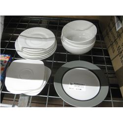 ASSORTED PLATES AND BOWL WARE