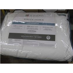 THE SEASON COLLECTIONS WHITE DOWN PILLOW SIDE SLEEPER STANDARD