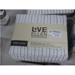 LOVE ELLEN DEGENERES DOUBLE SHEET SET