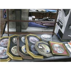 PLATES IN FRAMES WITH PLATE STAND