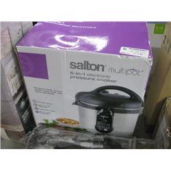 SALTON MULTI POT 5-IN-1 PRESSURE COOKER
