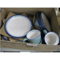 BLUE CERAMIC PLATE SET