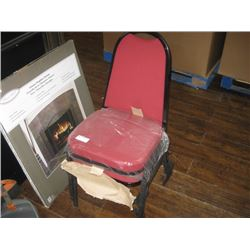 SET OF 2 RED CUSHIONED CHAIRS