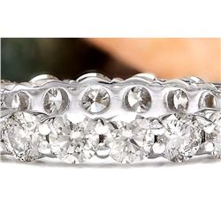 3.20 CTW Natural Diamond 18K Solid White Gold Ring