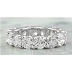 6.30 CTW Diamond 14K White Gold Ring