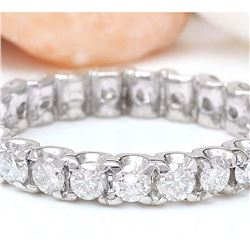 1.50 CTW Natural Diamond 18K Solid White Gold Ring