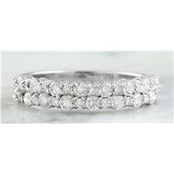 0.75 CTW 18K White Gold Diamond Ring