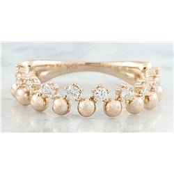 0.40 CTW Diamond 18K Rose Gold Bubble Ring