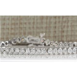 4.20 CTW Natural Dimond Bracelet In 18K Solid White Gold