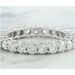 2.00 CTW Diamond 18K White Gold Eternity Ring Band