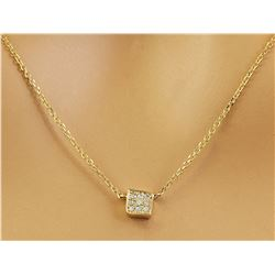 0.10 CTW 14K Yellow Gold Diamond Necklace