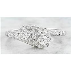 0.46 CTW Diamond 18K White Gold Ring