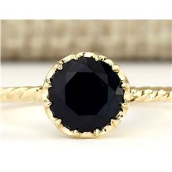 1.30 CTW Natural Blue Sapphire Ring In 14k Yellow Gold