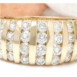 2.50 CTW Natural Diamond 18K Solid Yellow Gold Ring
