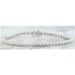 1.45 CTW Diamond 14K White Gold Bracelet