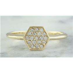 0.22 CTW 18K Yellow Gold Diamond Ring