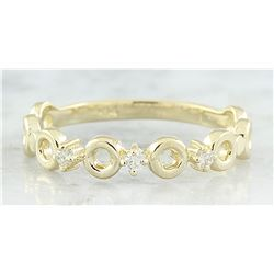 0.07 CTW Diamond 18K Yellow Gold Ring