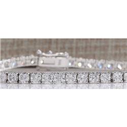 7.35 CTW Natural Diamond Bracelet In 14K White Gold