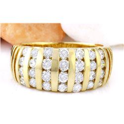1.55 CTW Natural Diamond 14K Solid Yellow Gold Ring