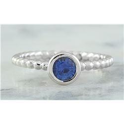 0.45 CTW Sapphire 18K White Gold Ring