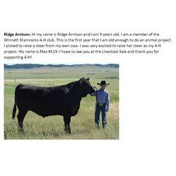 Arntson, Ridge - Market Beef