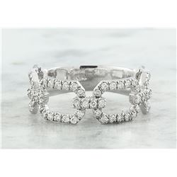 0.65 CTW Diamond 18K White Gold Ring