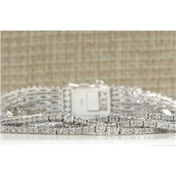8.24CTW Natural Diamond Bracelet In 14K Solid White Gold