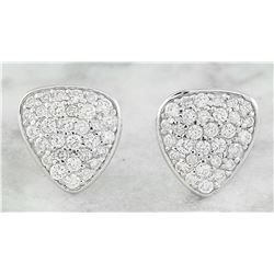 0.65 CTW Diamond 18K White Gold Earrings