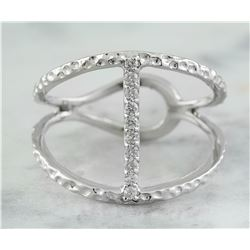 0.10 CTW 18K White Gold Diamond Ring