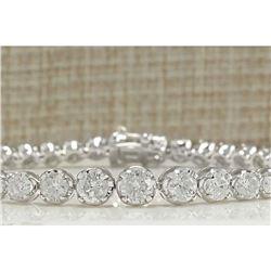 7.50 CTW Natural Diamond Bracelet In 14K Solid White Gold