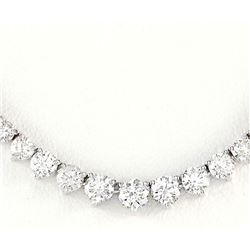 6.50 CTW Natural Diamond Necklace In 14k White Gold